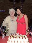 Ellen Branigan celebrating her 21st birthday in McHugh's with neighbour Claire Quinn. Photo:Colin Bell/pressphotos.ie