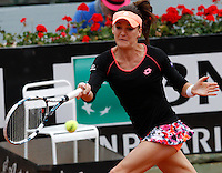 La polacca Agnieszka Radwanska agli Internazionali d'Italia di tennis a Roma, 16 maggio 2014.<br /> Poland's Agnieszka Radwanska during the Italian open tennis tournament, in Rome, 16 May 2014.<br /> UPDATE IMAGES PRESS/Riccardo De Luca