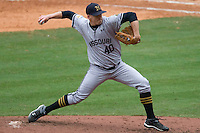 Missouri TIger pitcher Brad Buehler against the Texas Longhorns on Sunday March 7th, 2100 at the Astros College Classic in Houston's Minute Maid Park.  (Photo by Andrew Woolley / Four Seam Images)