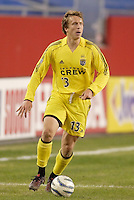 The Columbus Crew's Mark Schulte. The New England Revolution defeated the Columbus Crew 3 to 0 during the Revolution's MLS home opener at Gillette Stadium, Foxboro. MA, on Saturday April 9, 2005.