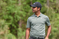 Shubhankar Sharma (IND) looks back toward 12th tee during round 1 of the Houston Open, Golf Club of Houston, Houston, Texas. 3/29/2018.<br /> Picture: Golffile | Ken Murray<br /> <br /> <br /> All photo usage must carry mandatory copyright credit (© Golffile | Ken Murray)