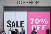 Topshop end of year sales, Oxford Street, London.