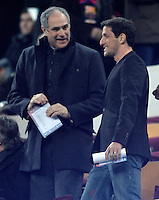FC Barcelona's General Manager Andoni Zubizarreta with Juliano Bellletti (r) during Copa del Rey - King's Cup semifinal second match.February 26,2013. (ALTERPHOTOS/Acero) /NortePhoto