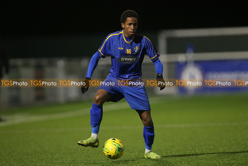 Jesse Oulakolu of Romford during Romford vs Brentwood Town, BetVictor League North Division Football at Parkside on 11th February 2020