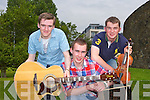 KERRY'S GOT TALENT: Member's of band The Crossing at the Kerry's Got Talent at Siamsa Tire, Tralee on Sunday l-r: Colin Foley, Sean Eillis and Darren McGillycuddy.
