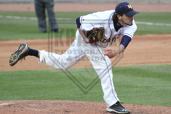 APPLETON - MAY 2011: Kyle Dupic of the Buena Vista Beavers during a NCAA Division III Baseball Championship game on May 27, 2011 at Fox Cities Stadium in Appleton, Wisconsin. (Photo by Brad Krause) ....