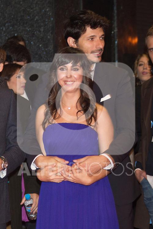 Andres Velencoso and Carmen Ruiz attend 'FIN' Premiere at Callao Cinema in Madrid on november 20th 2012...Photo: Cesar Cebolla / ALFAQUI..