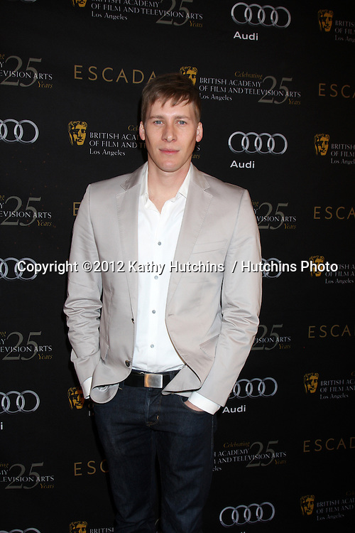 LOS ANGELES - JAN 14:  Dustin Lance Black arrives at  the BAFTA Award Season Tea Party 2012 at Four Seaons Hotel on January 14, 2012 in Beverly Hills, CA