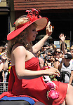 "2008 Pride Parade Grand Marshal, Enza ""Supermodel"" Anderson. Gay and lesbian Pride parade in Toronto, Canada."