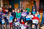 Winners of the Cahersiveen Credit Union Art Competition with their certificates and prizes on Friday.