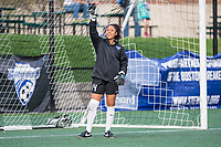Boston, MA - Saturday April 29, 2017: Abby Smith during warmups before a regular season National Women's Soccer League (NWSL) match between the Boston Breakers and Seattle Reign FC at Jordan Field.