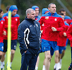 Ian Durrant watching training