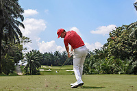 Paul Peterson (USA) in action on the 4th tee during Round 1 of the Maybank Championship at the Saujana Golf and Country Club in Kuala Lumpur on Thursday 1st February 2018.<br /> Picture:  Thos Caffrey / www.golffile.ie<br /> <br /> All photo usage must carry mandatory copyright credit (© Golffile | Thos Caffrey)