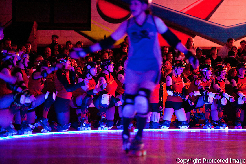 Queen City Roller Girls, a 4 year old  women's flat track roller derby league from  Buffalo, NY.