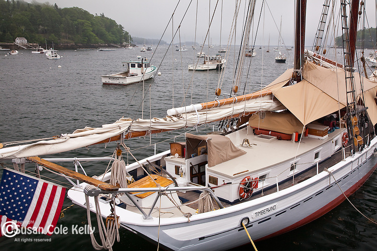 The schooner Timberwind in Rockport, ME, USA