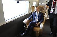- Treviglio (Brescia), viaggio di prova sulla nuova linea Alta Velocit&agrave;/Alta Capacit&agrave; Treviglio-Brescia, parte integrante del Corridoio Europeo TENT-T; Graziano Delrio, Ministro delle Infrastrutture e dei Trasporti<br /> <br /> - Treviglio (Brescia), test ride on the new line High Speed / High Capacity Treviglio-Brescia, an integral part of the European Corridor TENT-T; Graziano Delrio, Minister of Infrastructure and Transport