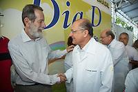 SAO PAULO, SP, 20 DE ABRIL DE 2013. CAMPANHA DE VACINACAO CONTRA A GRIPE 2013.  o Governador Geraldo Alckmin durante o lançamento da campanha de vacinação contra a gripe 2013 na manhã deste sábado no Instituto Butantan na zona oeste da capital paulista  FOTO ADRIANA SPACA/BRAZIL PHOTO PRESS