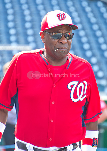 Washington Nationals manager Dusty Baker (12) prior to the game against the New York Mets at Nationals Park in Washington, D.C. on Tuesday, June 28, 2016.  The Nationals won the game 5 - 0.<br /> Credit: Ron Sachs / CNP/MediaPunch ***FOR EDITORIAL USE ONLY***