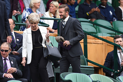 02.07.2016. All England Lawn Tennis and Croquet Club, London, England. The Wimbledon Tennis Championships Day Six.  David Beckham arrives for the days games