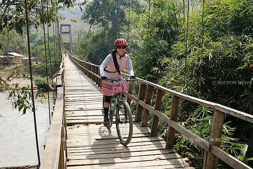 Chiang-Rai MTB Challenge 2009, rider D-2 Kazuko MURASE (photo Laurent Benchana/Nippon News)