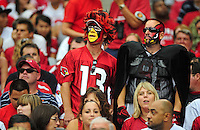 Sept. 13, 2009; Glendale, AZ, USA; Arizona Cardinals fans in the crowd against the San Francisco 49ers at University of Phoenix Stadium. San Francisco defeated Arizona 20-16. Mandatory Credit: Mark J. Rebilas-