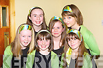COLOURS: Wearing the Colours of their Club NA Gaeil Singers in the Community Games Singing and Music competition on Saturday in The Abbeydorney community Centre, they were: Cli?odhna Moynihan,Kate Sheehy,Niamh Cleary,katie O'Riordan and Clodagh Foley..    Copyright Kerry's Eye 2008