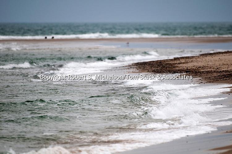 Crashing waves, South Beach, Chatham, Massachusetts
