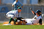 24 April 2007: University of Vermont Catamounts' Nick Gallipani, a Senior from Brewster, NY, slides safely into second against the Dartmouth College Big Green at Historic Centennial Field, in Burlington, Vermont. The Catamounts defeated the Big Green 11-5...Mandatory Photo Credit: Ed Wolfstein Photo