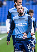 Michael Harriman of Wycombe Wanderers during the FA Cup 1st round match between Portsmouth and Wycombe Wanderers at Fratton Park, Portsmouth, England on the 5th November 2016. Photo by Liam McAvoy.