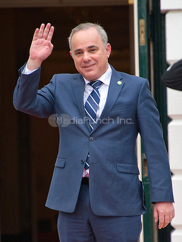 Yuval Steinitz, Minister of National Infrastructures, Energy and Water Resources of the State of Israel arrives for the working dinner for the heads of delegations at the Nuclear Security Summit on the South Lawn of the White House in Washington, DC on Thursday, March 31, 2016.<br /> Credit: Ron Sachs / Pool via CNP/MediaPunch