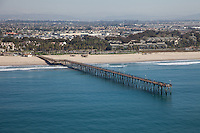City of Ventura California Aerial Stock Photo