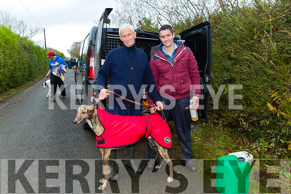 At the Abbeydorney Coursing on Monday were David Curtin Shane Curtin with Barrick Jackie