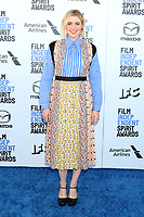 LOS ANGELES - FEB 8:  Greta Gerwig at the 2020 Film Independent Spirit Awards at the Beach on February 8, 2020 in Santa Monica, CA