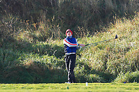 Thomas Higgins (Roscommon) on the 10th tee during Round 3 of the Ulster Boys Championship at Portrush Golf Club, Portrush, Co. Antrim on the Valley course on Thursday 1st Nov 2018.<br /> Picture:  Thos Caffrey / www.golffile.ie<br /> <br /> All photo usage must carry mandatory copyright credit (&copy; Golffile | Thos Caffrey)