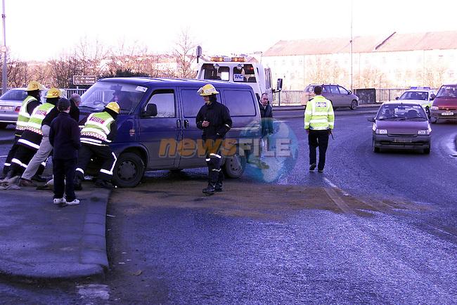Accident at bridge of peace.