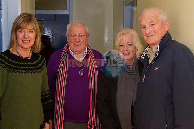 Siobhan Seberry, David Finglas, Sheila Finglas and James Finglas attend the concert at St. Ita's School..Picture: Shane Maguire / www.newsfile.ie.