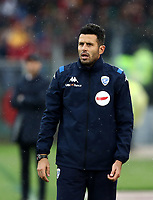 Football, Serie A: AS Roma - Brescia FC, Olympic stadium, Rome, November 24, 2019. <br /> Brescia's coach Fabio Grosso looks on during the Italian Serie A football match between Roma and Brescia at Olympic stadium in Rome, on November 24, 2019. <br /> UPDATE IMAGES PRESS/Isabella Bonotto