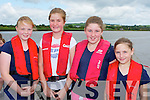 The Callinafercy crew who competed in the Callinafercy regatta at Ballykissane Pier on Sunday l-r: Emma Houlihan, Katie Boyle, Savanagh Clifford and Grace Halliday