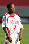 13 March 2008: Livan Vasconcelos (CUB) (7). The Honduras U-23 Men's National Team defeated the Cuba U-23 Men's National Team 2-0 at Raymond James Stadium in Tampa, FL in a Group A game during the 2008 CONCACAF's Men's Olympic Qualifying Tournament.