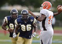 Florida International University Golden Panthers v. Bowling Green University Falcons at Miami, Florida on Saturday, September 16, 2006...Sophomore defensive end Jarvis Penerton (96).Junior defensive lineman Roland Clarke (99)