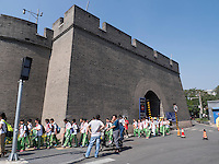 Stadttor von WanPing bei MarcoPolo-Br&uuml;cke in Peking, China, Asien<br /> City-Gate of WanPing near MarcoPolo-bridge, Beijing, China, Asia