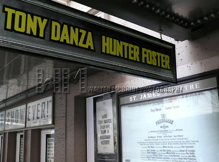 The Producers.( Theatre Marquee ).starring Tony Danza & Hunter Foster at the St. James Theatre in New York City..March 9, 2007.© Walter McBride /  .