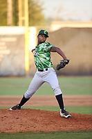 Elvis Diaz (6) of the Eugene Emeralds pitches against the Salem-Keizer Volcanoes at Volcanoes Stadium on July 24, 2017 in Keizer, Oregon. Eugene defeated Salem-Keizer, 7-6. (Larry Goren/Four Seam Images)