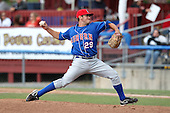 Auburn Doubledays pitcher Travis Garret (29) during a game vs. the Batavia Muckdogs at Dwyer Stadium in Batavia, New York September 5, 2010.   Batavia defeated Auburn 7-0.  Photo By Mike Janes/Four Seam Images