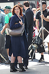Debra Messing filming a scene from the NBC TV Show 'Smash' in Times Square, New York City on September 12, 2012