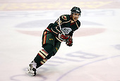 February 24th 2008:  Brandon Rogers (28) of the Houston Aeros skates up ice during a game vs. the Rochester Amerks at Blue Cross Arena at the War Memorial in Rochester, NY.  The Aeros defeated the Amerks 4-0.   Photo copyright Mike Janes Photography 2008