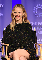 "HOLLYWOOD, CA - MARCH 17: Halston Sage at the PaleyFest 2018 - ""The Orville"" panel at the Dolby Theatre on March 17, 2018 in Hollywood, California. (Photo by Scott Kirkland/Fox/PictureGroup)"