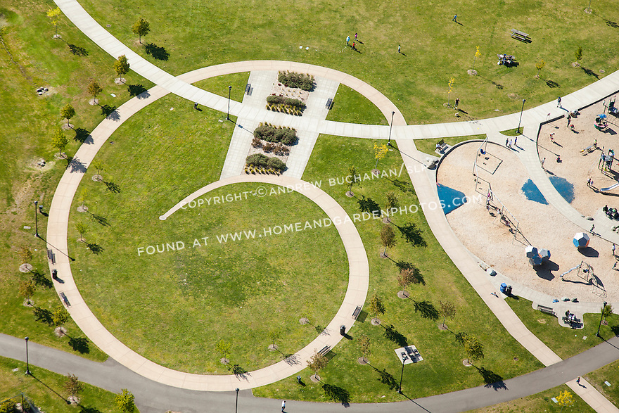 Graphic image of walking paths and playground in Seattle's Jefferson Park reservoir park