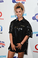 Raye in the press room for the Capital Summertime Ball 2018 at Wembley Arena, London, UK. <br /> 09 June  2018<br /> Picture: Steve Vas/Featureflash/SilverHub 0208 004 5359 sales@silverhubmedia.com