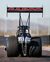 Jan 31, 2018; Chandler, AZ, USA; NHRA top fuel driver Steve Torrence during Nitro Spring Training Testing at Wild Horse Pass Motorsports Park. Mandatory Credit: Mark J. Rebilas-USA TODAY Sports